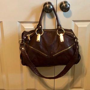 B. Makowsky brown leather handbag